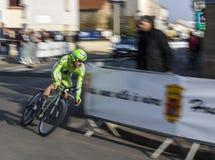 Ação agradável da raça de ciclagem de Paris Imagem de Stock Royalty Free