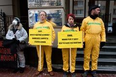 Ação antinuclear de Greenpeace Imagens de Stock Royalty Free
