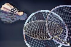 Ação artística do badminton Fotografia de Stock Royalty Free
