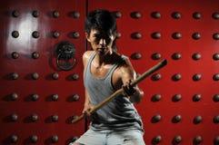 Ação asiática da luta interna do homem fotos de stock