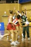 ? Ação asiática do campeonato do Netball (borrada) Fotografia de Stock Royalty Free