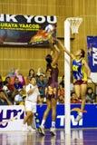 ? Ação asiática do campeonato do Netball (borrada) Foto de Stock Royalty Free