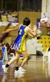 ? Ação asiática do campeonato do Netball (borrada) Imagem de Stock