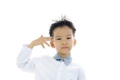 Ação asiática do menino Fotos de Stock Royalty Free
