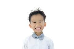 Ação asiática do menino Fotos de Stock