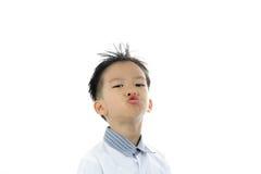 Ação asiática do menino Foto de Stock Royalty Free