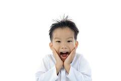 Ação asiática do menino Imagem de Stock Royalty Free