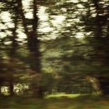 Ação borrada do carro na alta velocidade - fotografia retro do filtro Fotos de Stock