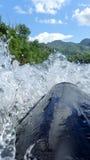 Ação da água na jangada 1 Fotos de Stock