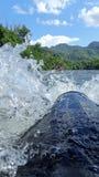 Ação da água na jangada 3 Foto de Stock
