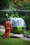 Ação da ambulância de ar no parque da corte de Bristol Oldbury Foto de Stock Royalty Free