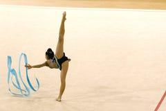Ação da ginástica Fotos de Stock Royalty Free