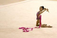 Ação da ginástica Fotografia de Stock