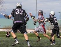 Ação da lacrosse Imagem de Stock Royalty Free