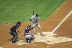 Ação da Liga Nacional de Basebol Fotografia de Stock Royalty Free
