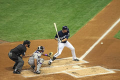 Ação da Liga Nacional de Basebol Foto de Stock