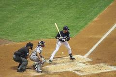 Ação da Liga Nacional de Basebol Fotografia de Stock