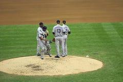 Ação da Liga Nacional de Basebol Imagens de Stock Royalty Free
