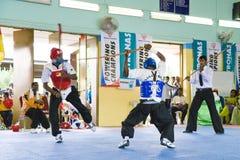 Ação da luta da vara (Silambam) Imagens de Stock Royalty Free