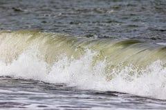 Ação da onda de quebra Força da natureza que fornece a energia renovável Fotografia de Stock Royalty Free