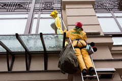 Ação da organização ambiental Greenpeace Fotografia de Stock