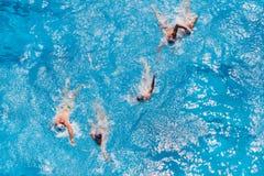 Ação da piscina do polo aquático Fotos de Stock