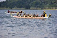 Ação da raça de barco do dragão Imagens de Stock Royalty Free