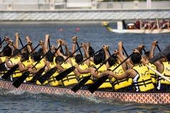Ação da raça de barco do dragão Fotos de Stock