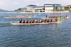 Ação da raça de barco do dragão Imagem de Stock