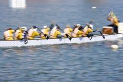 Ação da raça de barco do dragão (borrada) Foto de Stock Royalty Free