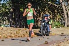 Ação da raça de maratona das meninas Imagens de Stock Royalty Free