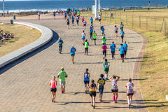 Ação da raça de maratona das meninas Imagens de Stock