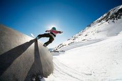 Ação da snowboarding Foto de Stock Royalty Free