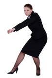 Ação da tração da mulher de negócios Foto de Stock
