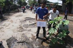 Ação danificada estrada Foto de Stock