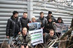 Ação das ecologistas a favor de Suren Gazaryan Fotografia de Stock
