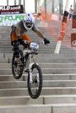 Ação de competência da bicicleta em declive Imagem de Stock