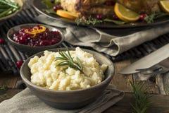 Ação de graças caseiro batatas trituradas Imagens de Stock Royalty Free