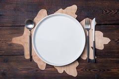 Ação de graças do ajuste de lugar da tabela do outono, o Dia das Bruxas Fotos de Stock
