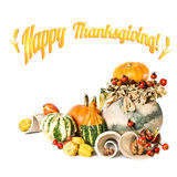 Ação de graças feliz! Cartão Fotografia de Stock Royalty Free