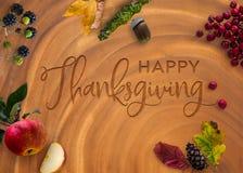 Ação de graças feliz gravada Imagens de Stock