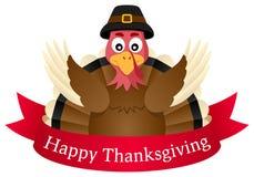 Ação de graças feliz Turquia com fita Imagem de Stock Royalty Free