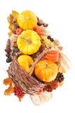 Ação de graças na cesta do rattan Foto de Stock Royalty Free
