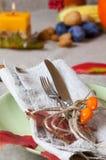 Ação de graças que janta o lugar Imagem de Stock