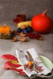 Ação de graças que janta o lugar Foto de Stock Royalty Free