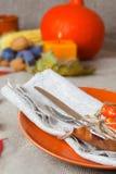 Ação de graças que janta o lugar Fotografia de Stock Royalty Free