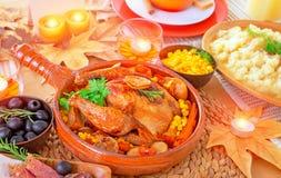 Ação de graças roasted forno Turquia Imagem de Stock