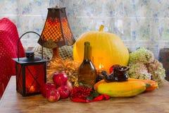 Ação de graças - um feriado da família, ainda vida com vegetais e Fotos de Stock Royalty Free