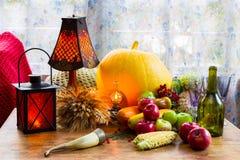 Ação de graças - um feriado da família, ainda vida com vegetais e Foto de Stock Royalty Free
