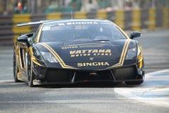 Ação de Lamborghini Gallardo na série super de Tailândia Fotografia de Stock Royalty Free